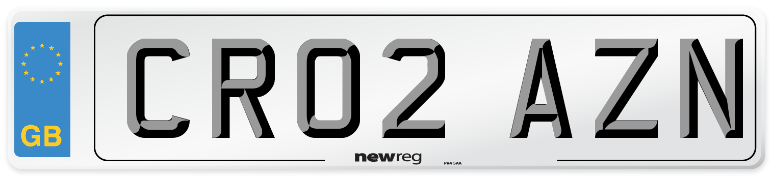 CR02 AZN Number Plate from New Reg