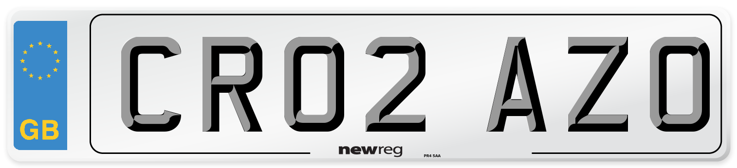 CR02 AZO Number Plate from New Reg