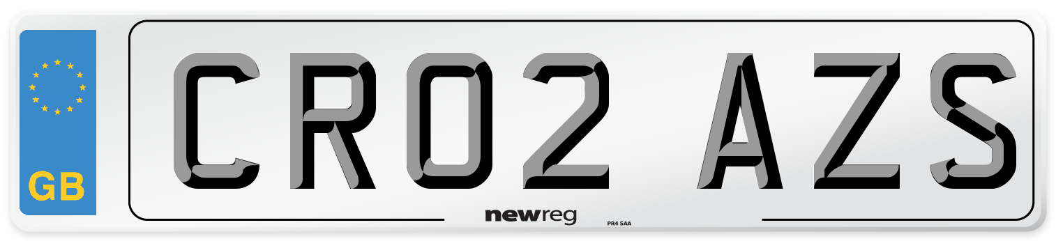 CR02 AZS Number Plate from New Reg