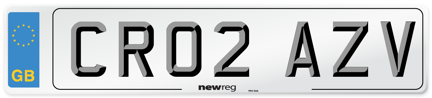 CR02 AZV Number Plate from New Reg