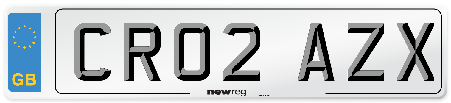 CR02 AZX Number Plate from New Reg