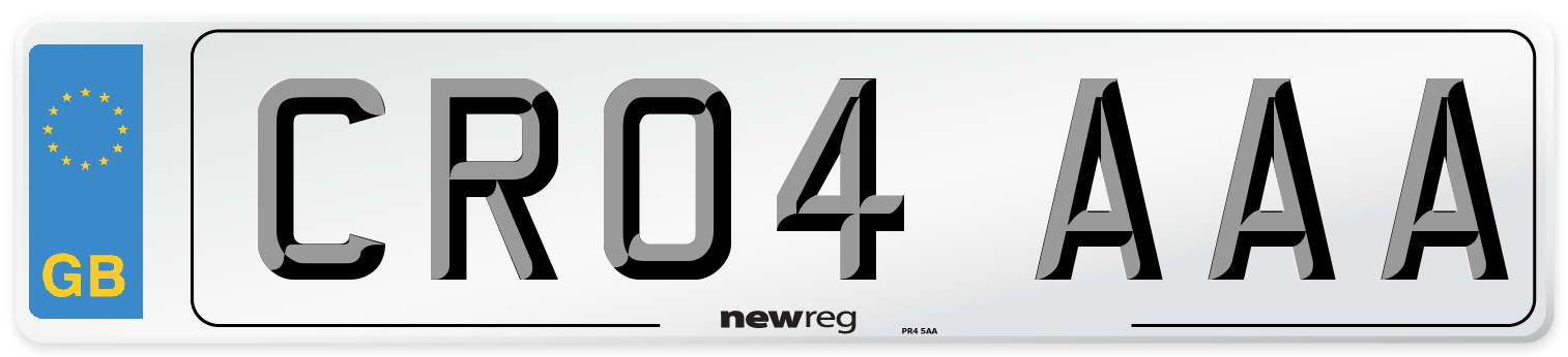 CR04 AAA Number Plate from New Reg