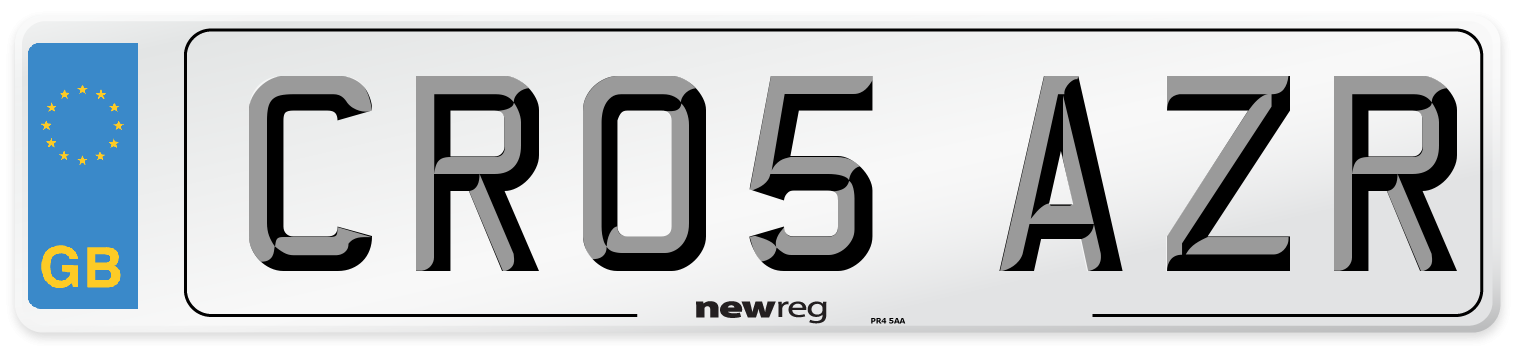 CR05 AZR Number Plate from New Reg