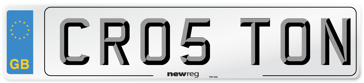 CR05 TON Number Plate from New Reg