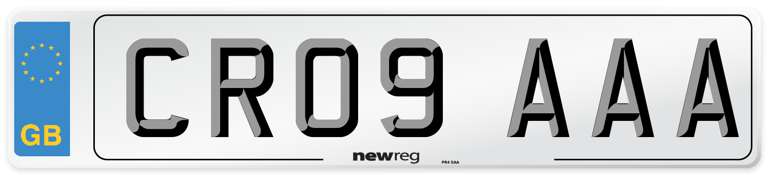 CR09 AAA Number Plate from New Reg