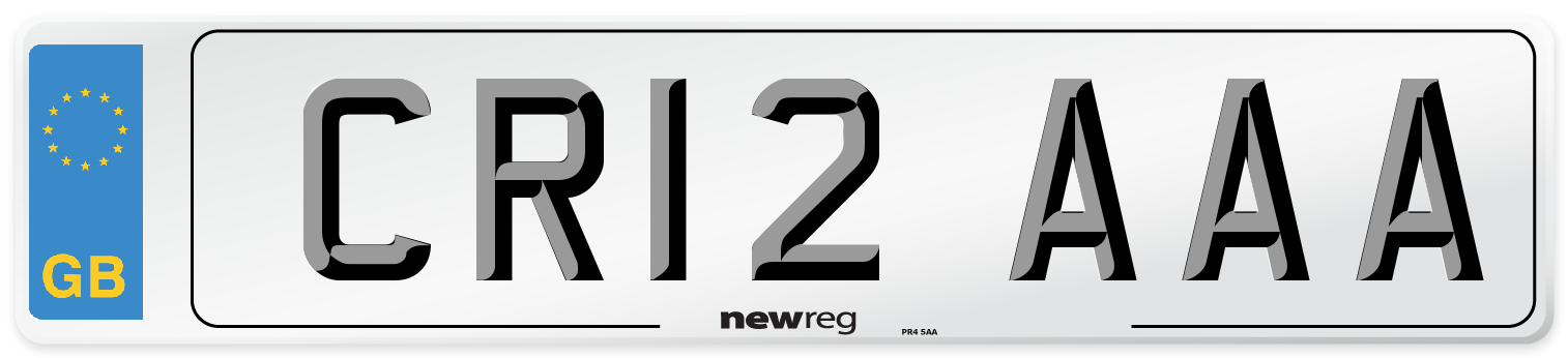 CR12 AAA Number Plate from New Reg