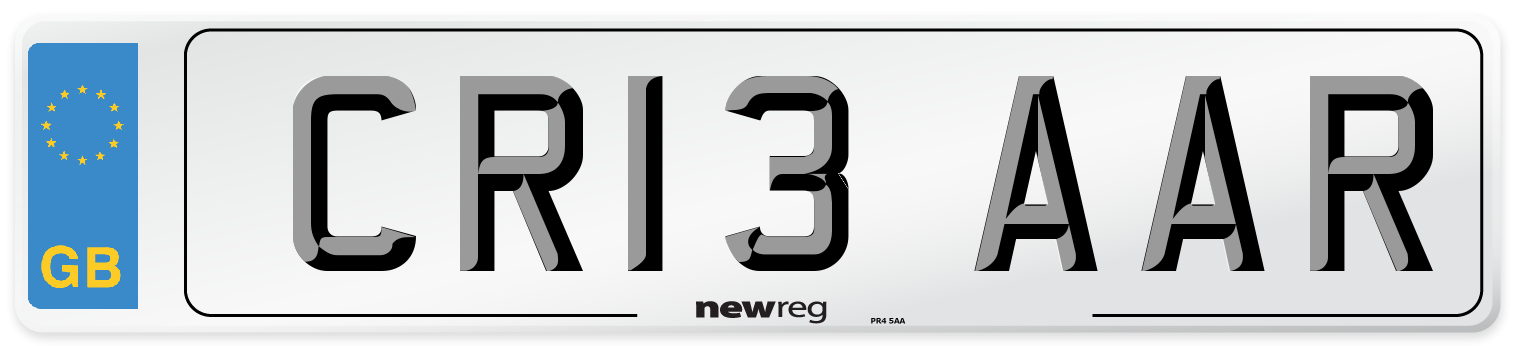 CR13 AAR Number Plate from New Reg