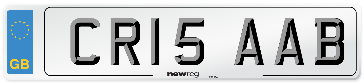 CR15 AAB Number Plate from New Reg