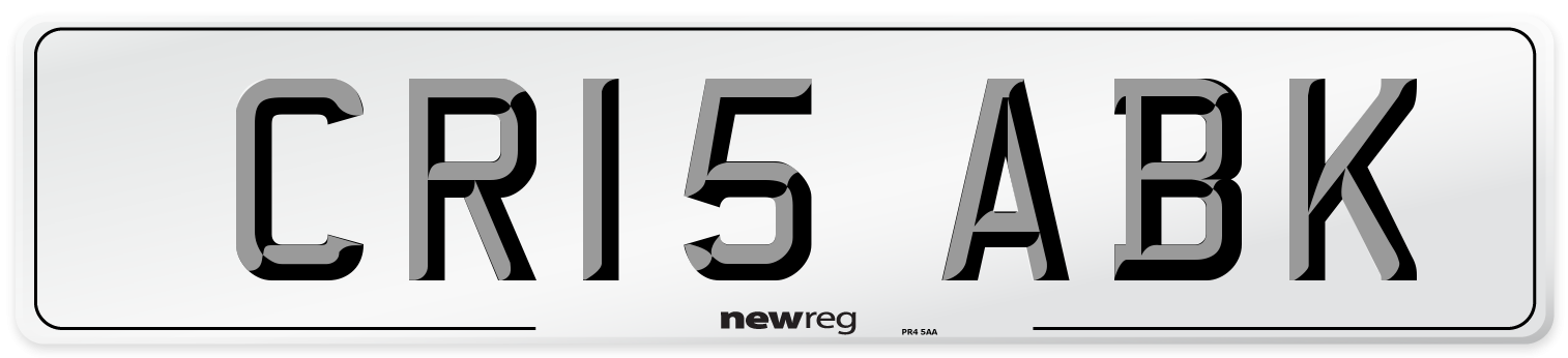 CR15 ABK Number Plate from New Reg