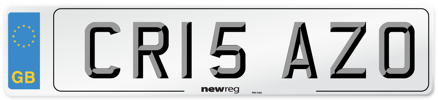 CR15 AZO Number Plate from New Reg