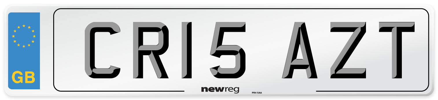 CR15 AZT Number Plate from New Reg