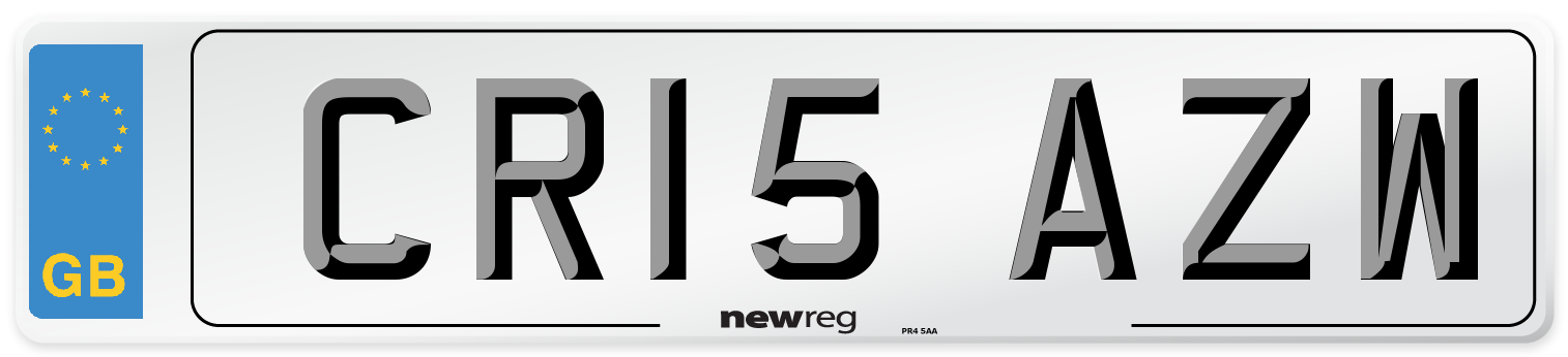 CR15 AZW Number Plate from New Reg