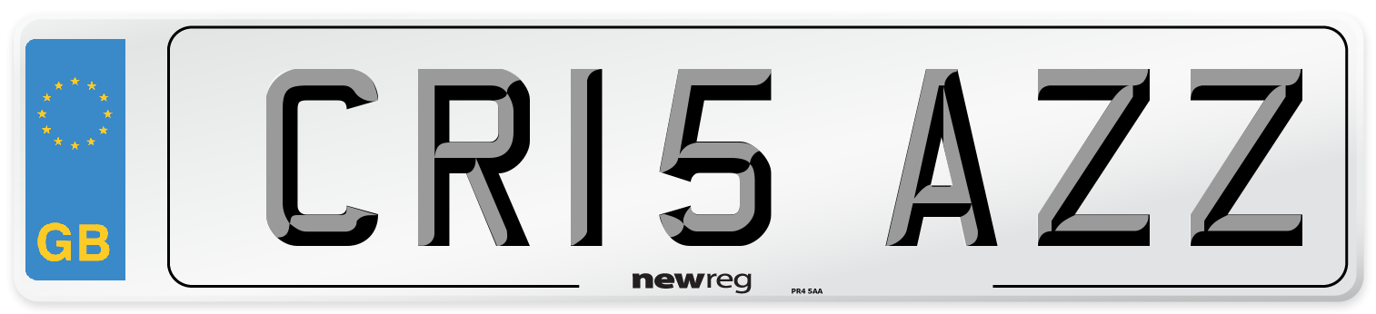 CR15 AZZ Number Plate from New Reg