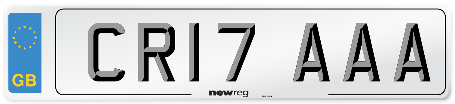 CR17 AAA Number Plate from New Reg