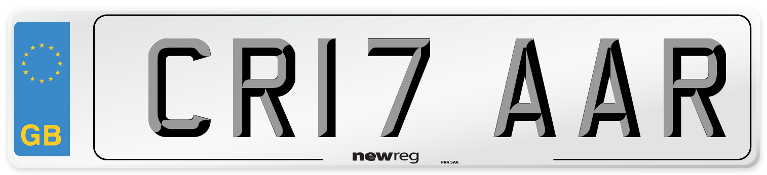 CR17 AAR Number Plate from New Reg