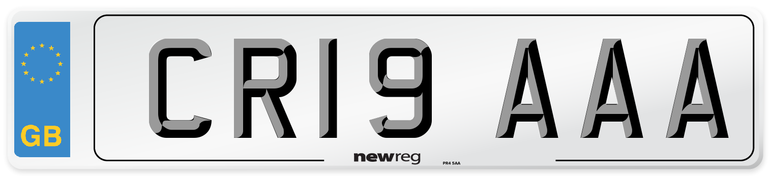 CR19 AAA Number Plate from New Reg