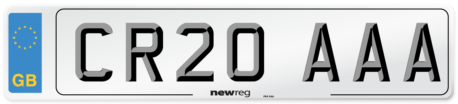 CR20 AAA Number Plate from New Reg