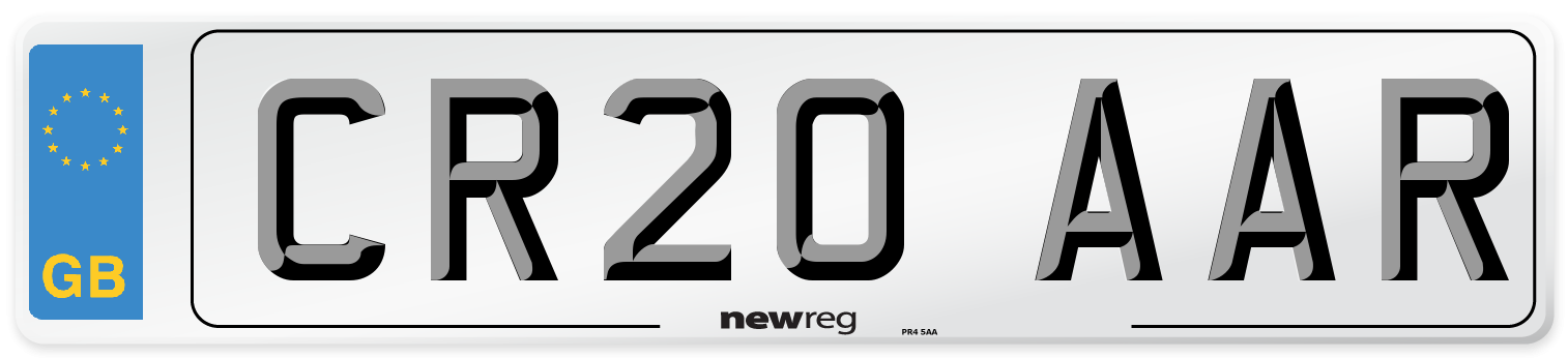CR20 AAR Number Plate from New Reg