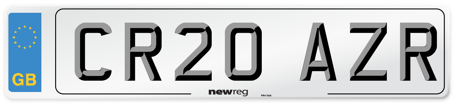 CR20 AZR Number Plate from New Reg