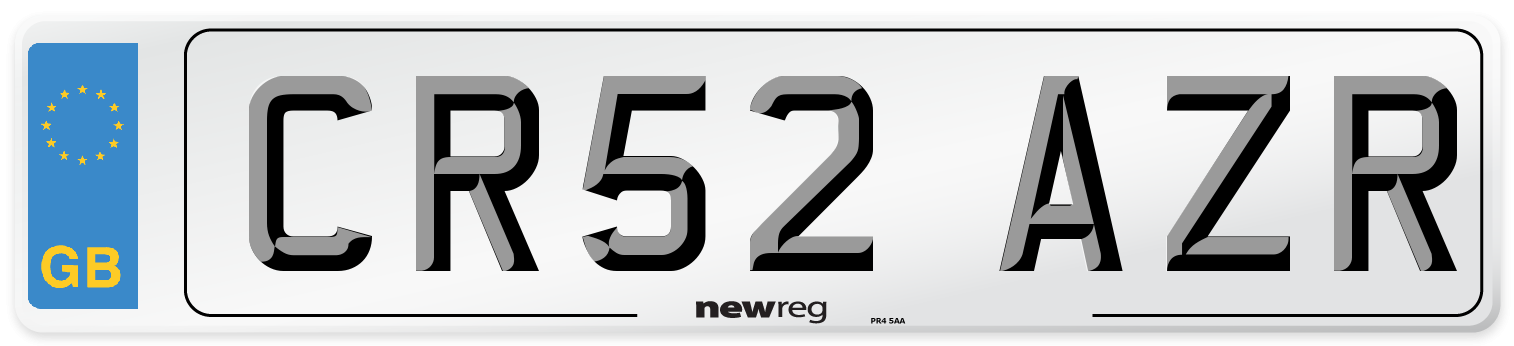 CR52 AZR Number Plate from New Reg