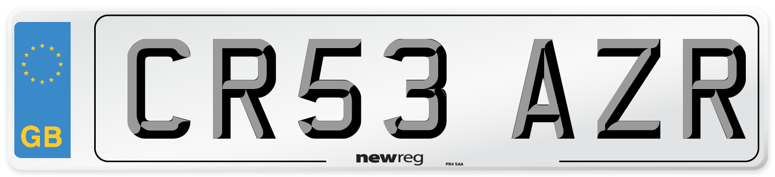CR53 AZR Number Plate from New Reg