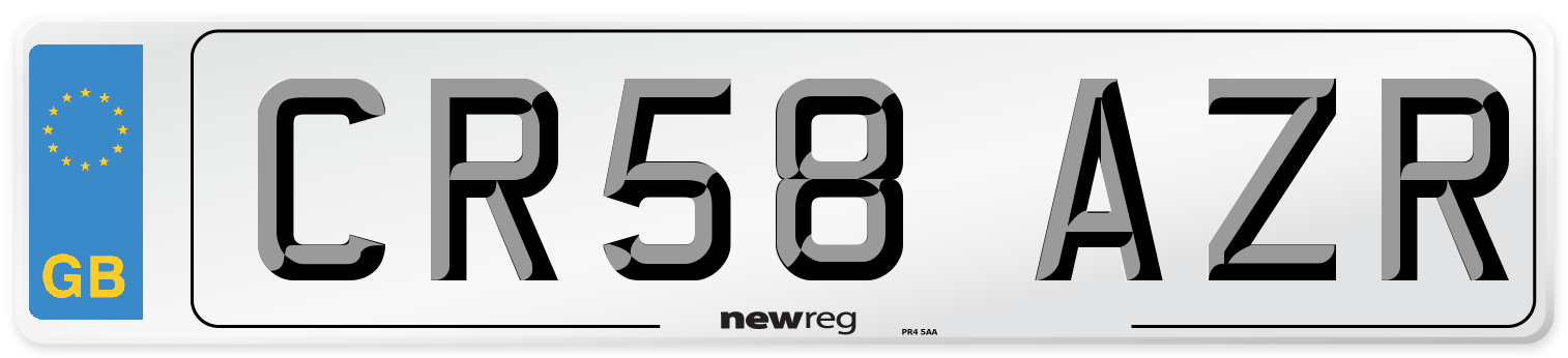 CR58 AZR Number Plate from New Reg