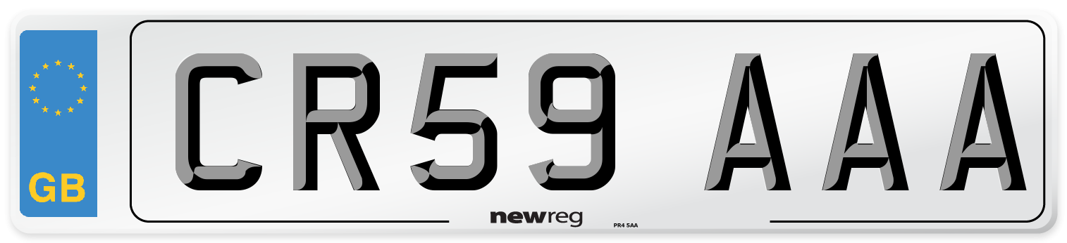 CR59 AAA Number Plate from New Reg