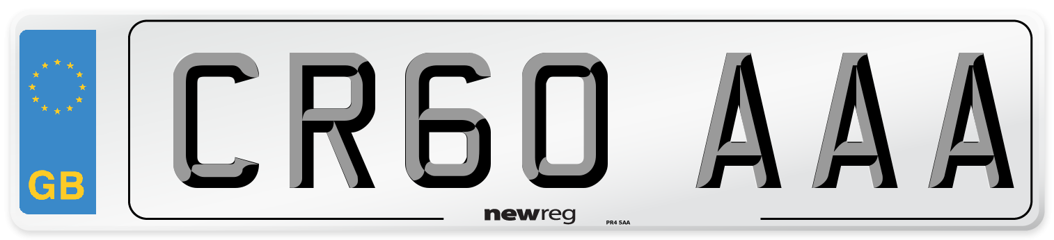 CR60 AAA Number Plate from New Reg