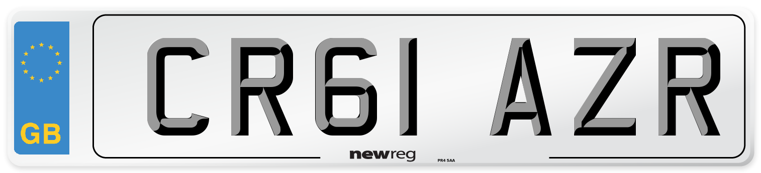 CR61 AZR Number Plate from New Reg