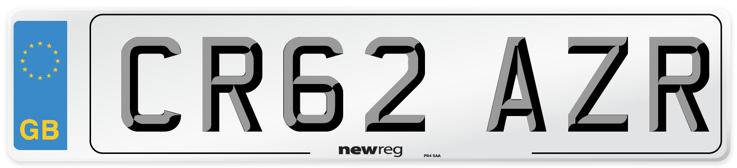 CR62 AZR Number Plate from New Reg