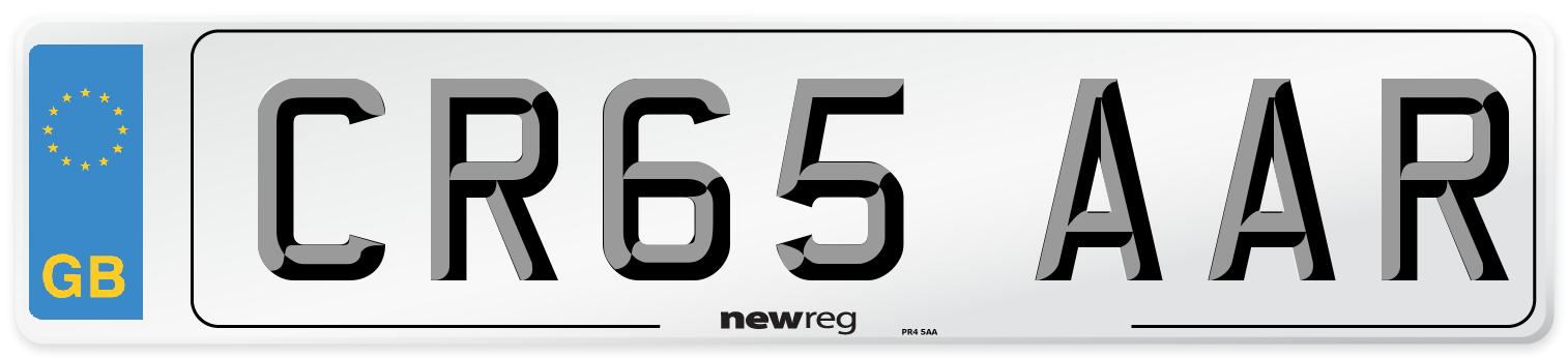 CR65 AAR Number Plate from New Reg