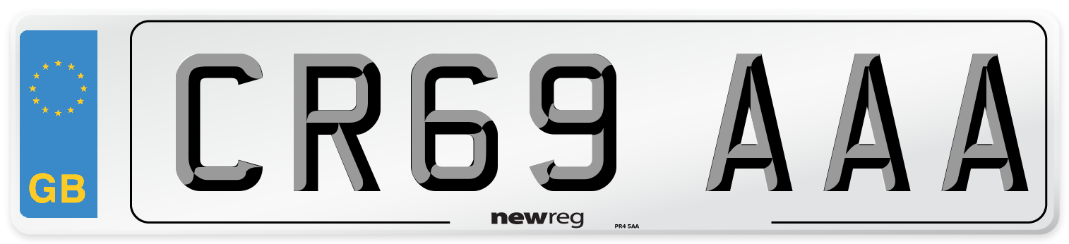 CR69 AAA Number Plate from New Reg