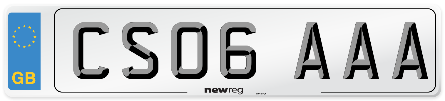 CS06 AAA Number Plate from New Reg