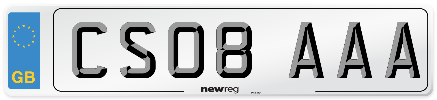 CS08 AAA Number Plate from New Reg