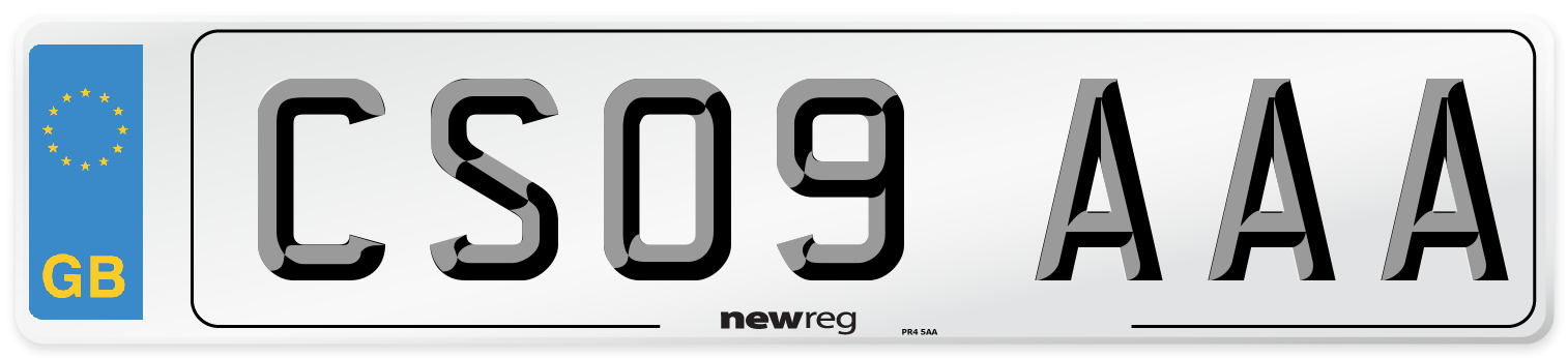 CS09 AAA Number Plate from New Reg