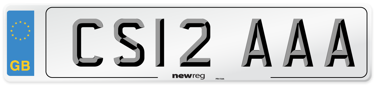 CS12 AAA Number Plate from New Reg