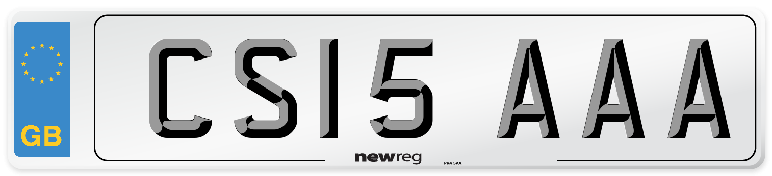 CS15 AAA Number Plate from New Reg
