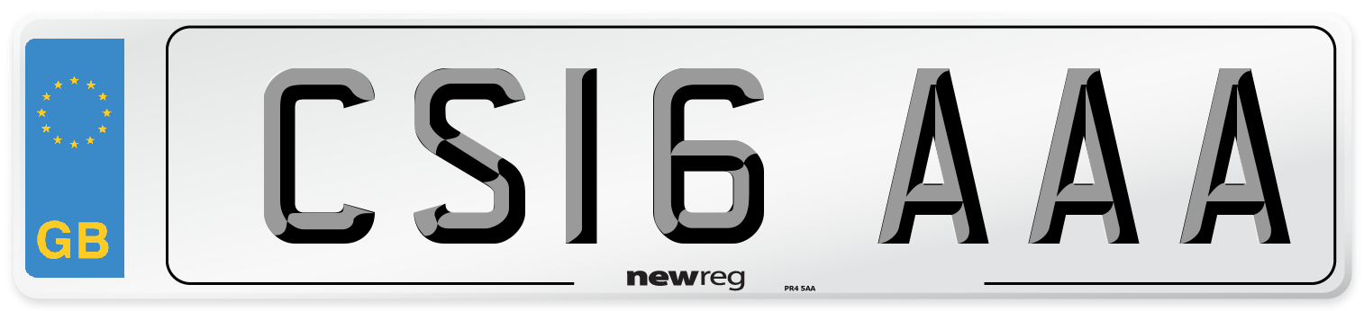 CS16 AAA Number Plate from New Reg