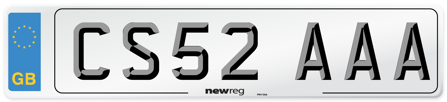 CS52 AAA Number Plate from New Reg