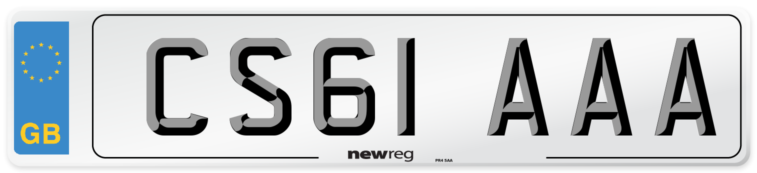 CS61 AAA Number Plate from New Reg