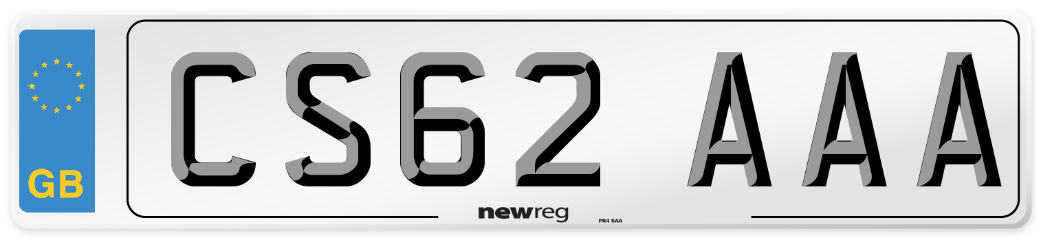 CS62 AAA Number Plate from New Reg