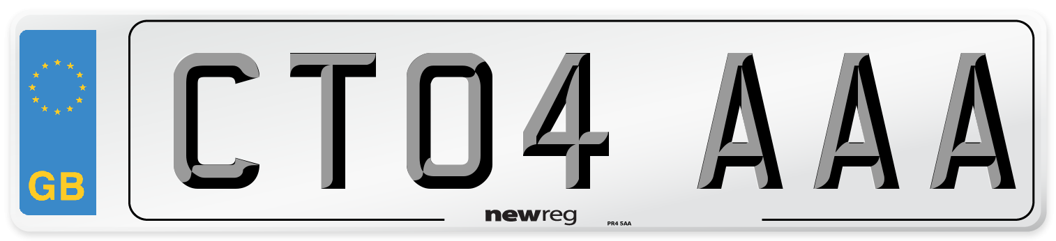 CT04 AAA Number Plate from New Reg