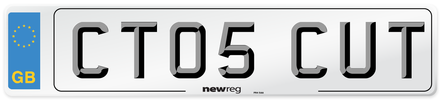 CT05 CUT Number Plate from New Reg