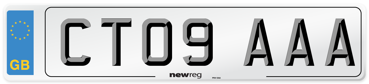 CT09 AAA Number Plate from New Reg