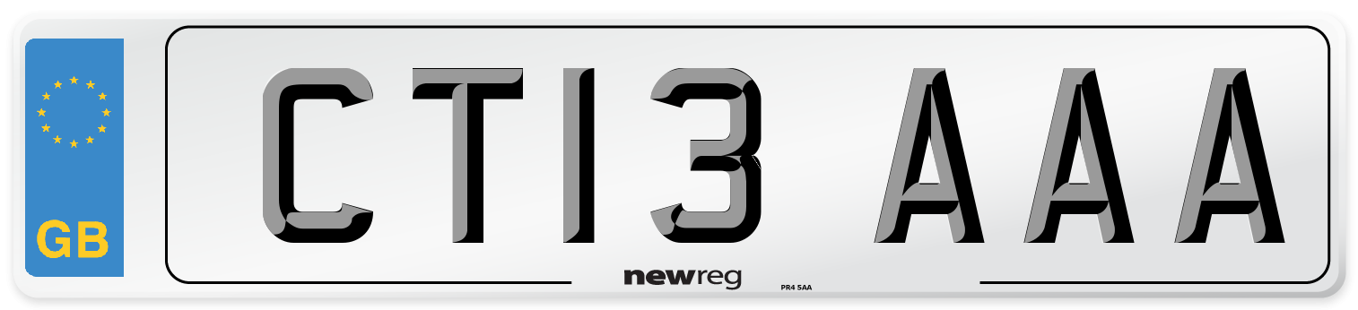 CT13 AAA Number Plate from New Reg