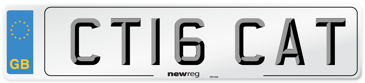 CT16 CAT Number Plate from New Reg