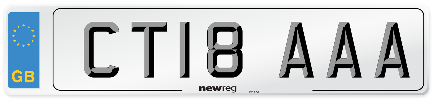 CT18 AAA Number Plate from New Reg