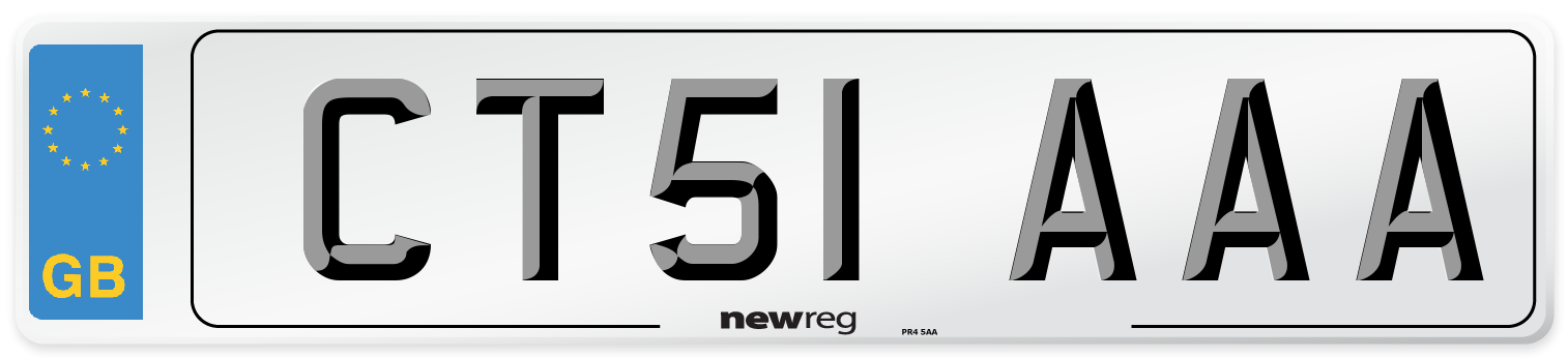 CT51 AAA Number Plate from New Reg