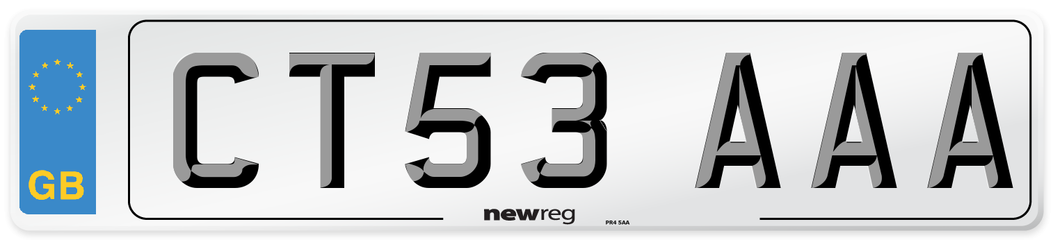 CT53 AAA Number Plate from New Reg