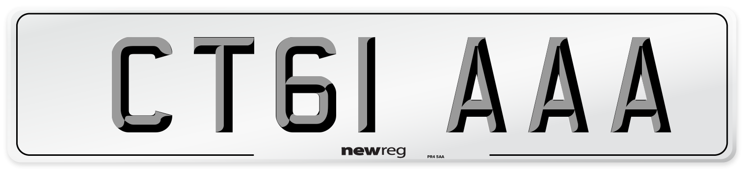 CT61 AAA Number Plate from New Reg